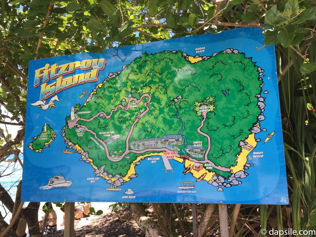 A Big Sign of the Map of Fitzroy Island