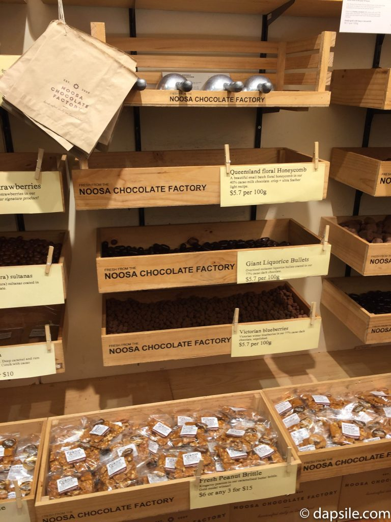 Several Chocolate Choices at Noosa Chocolate Factory