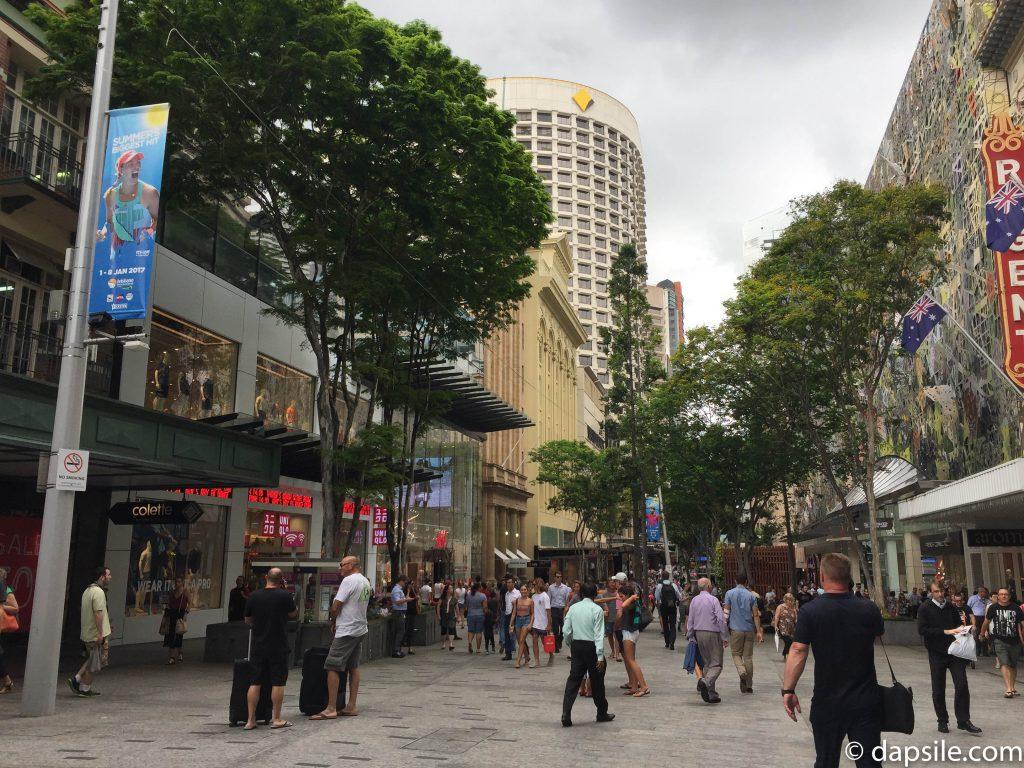 Queen Street Mall in Brisbane Australia