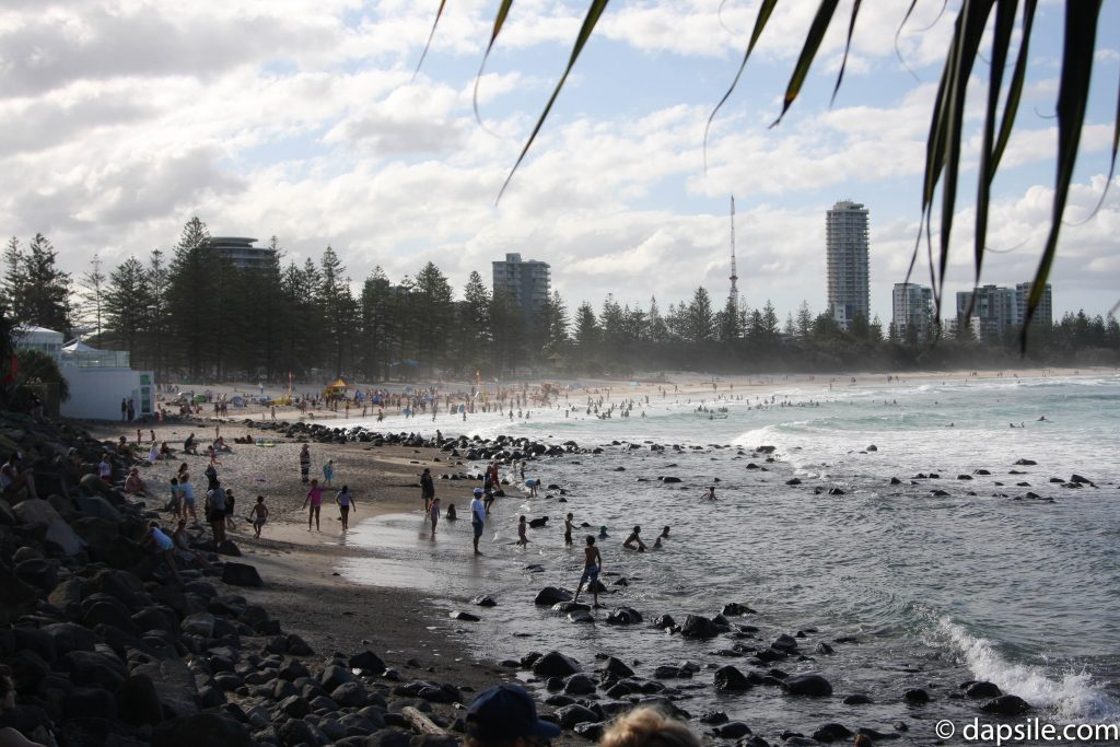 People on the Beach Along the Gold Coast
