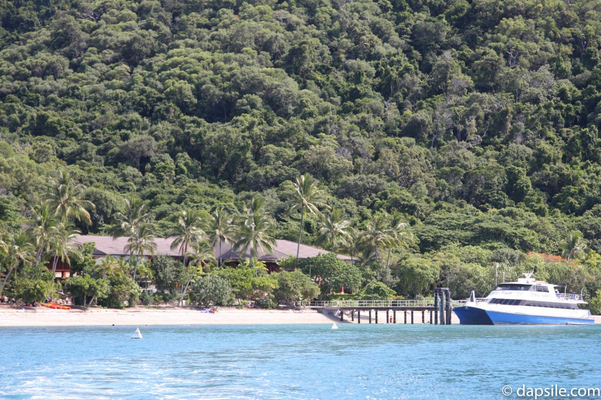 View of Fitzroy Island Resort from the Water