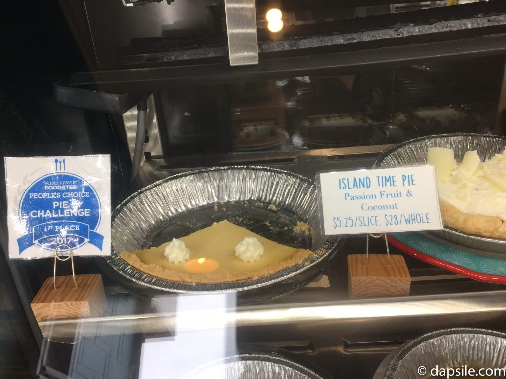 Island Time Pie on the shelf at the Half Baked Cookie Company