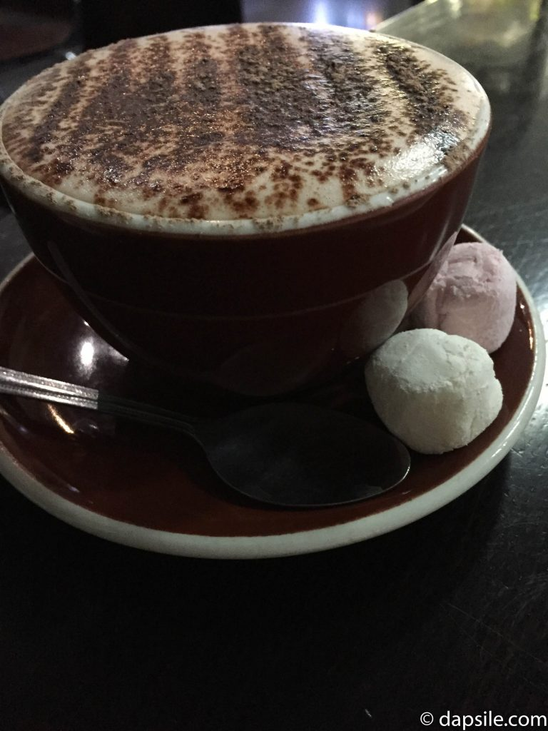 Cafe Kyriani Hot Chocolate with marshmallows