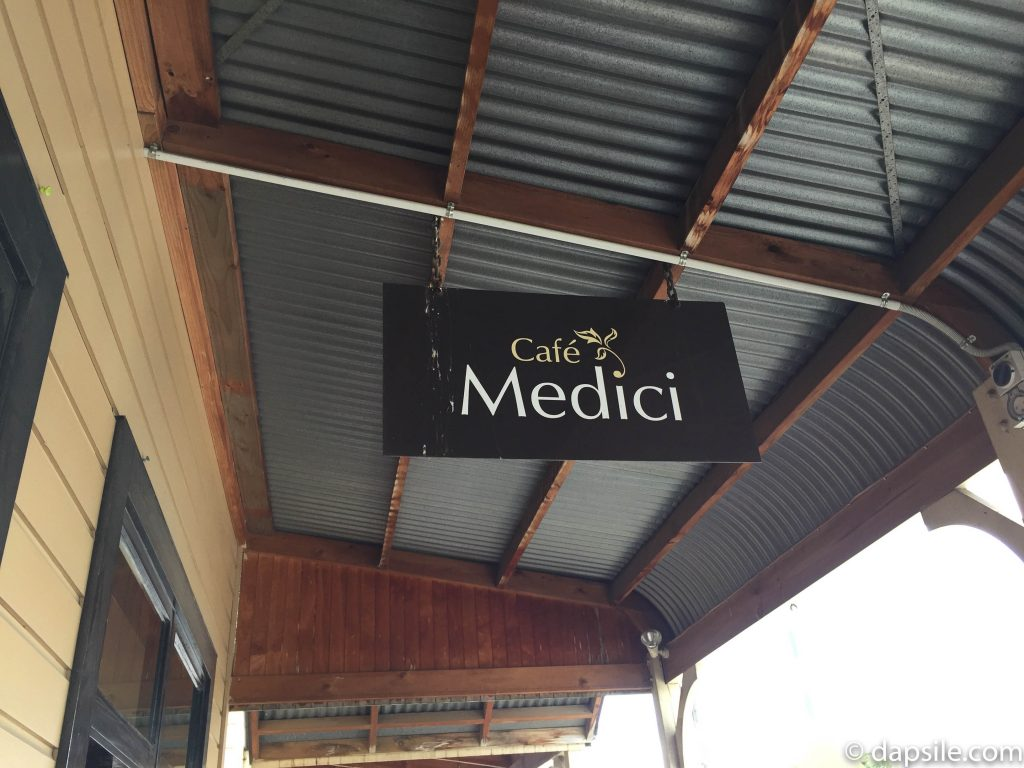 Cafe Medici Sign in Martinborough