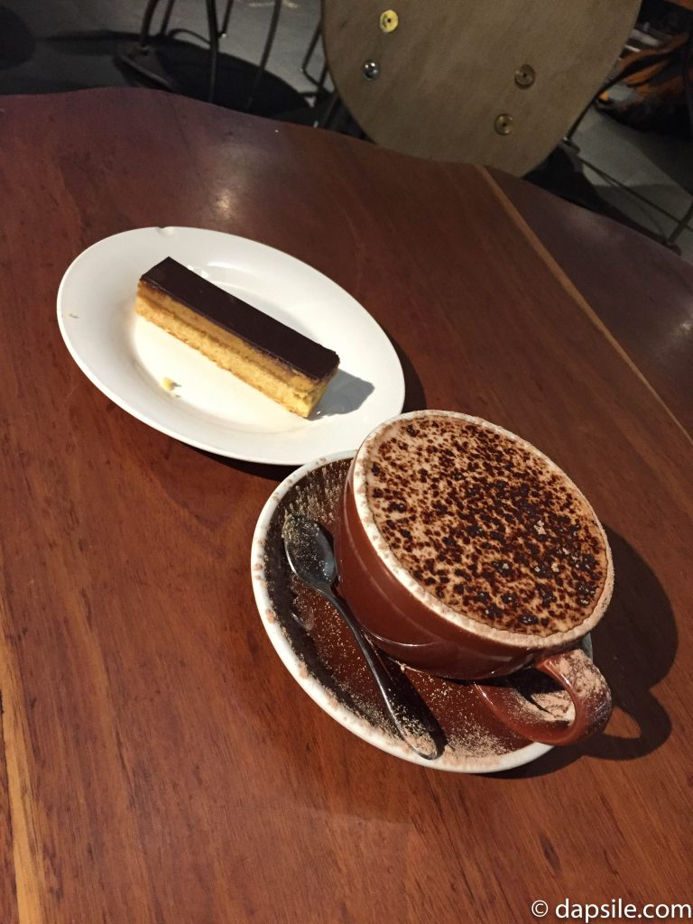 Hot Chocolate and Treat at Clark's Cafe in Wellington New Zealand Central Library