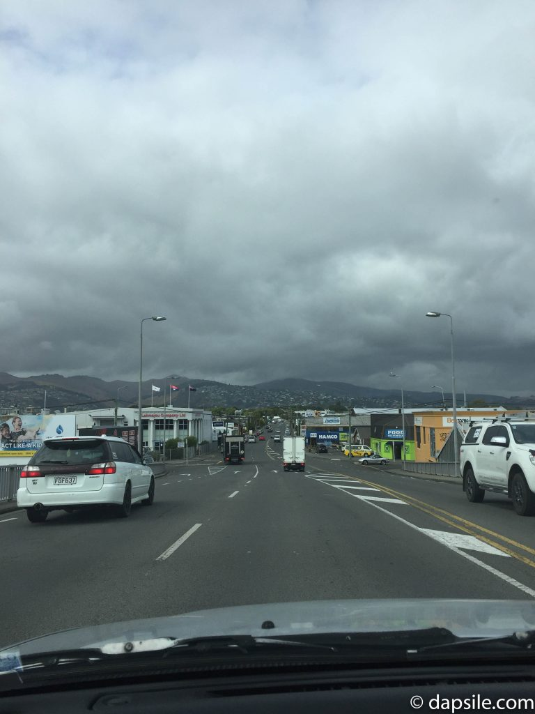 Driving in Christchurch on a Day with Fires & Rain