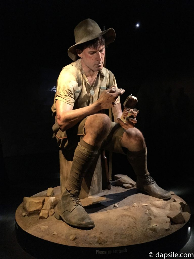 Soldier Statue in Gallipoli Exhibit in Museum of New Zealand Te Papa Tongarewa in Wellington New Zealand