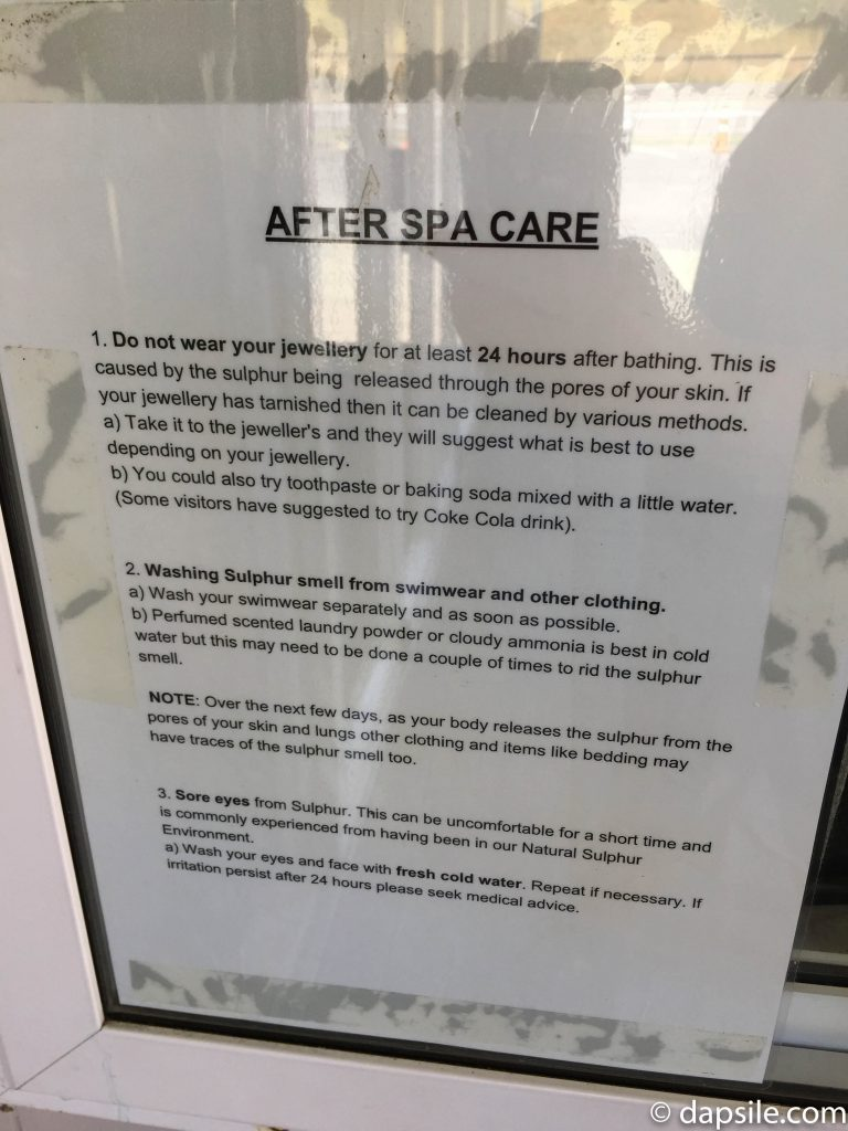 After Spa Care Notice posted in window