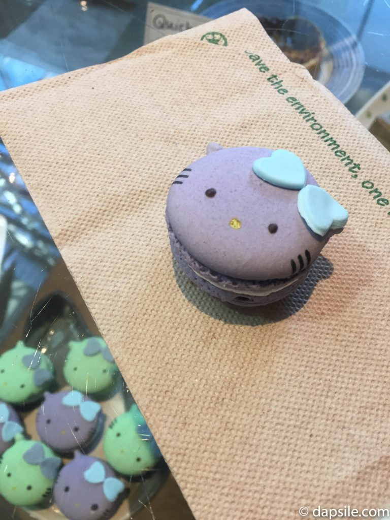 Purple Cat Macaron at Catfe