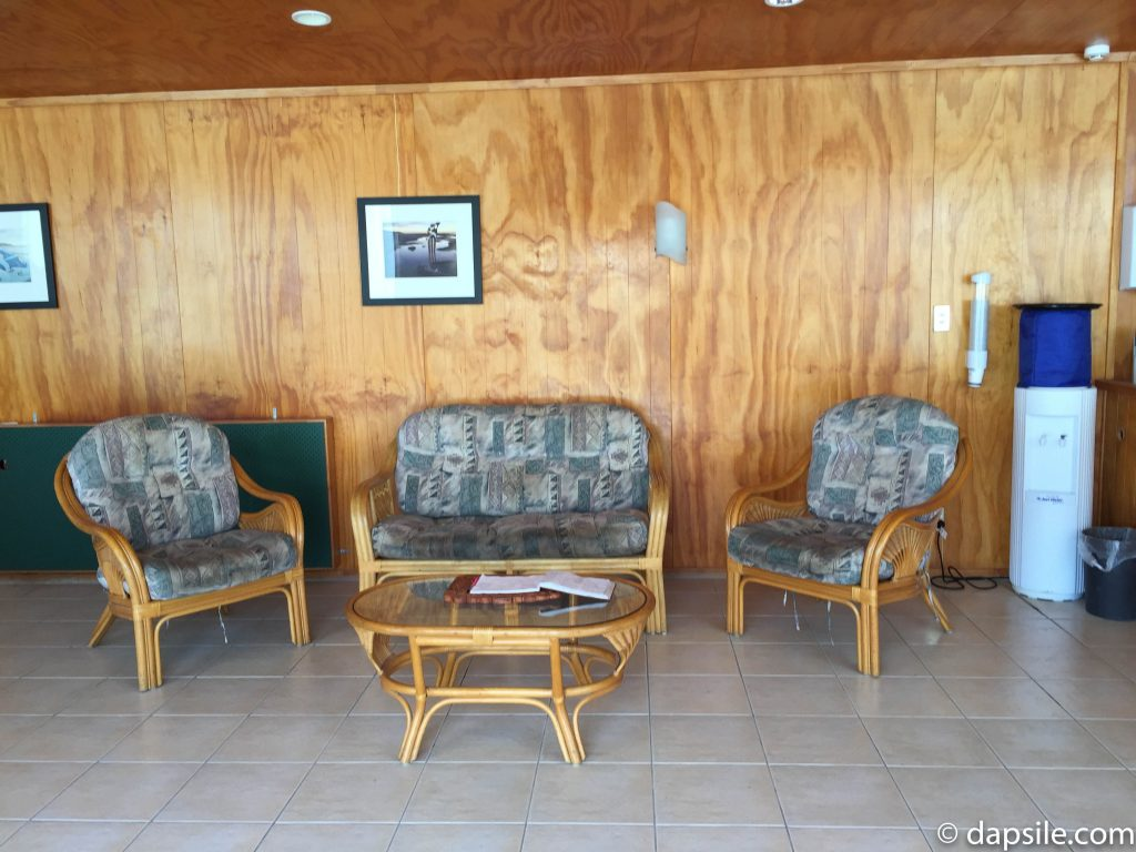 Comfy Wicker Seats in the Lounge at Hell's Gate