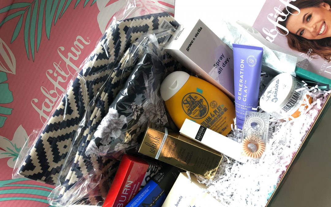 FabFitFun Summer 2019 Box contents