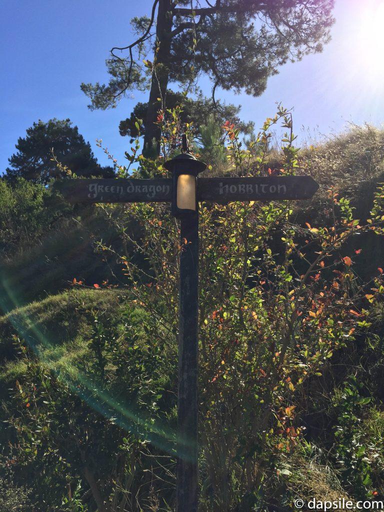 Green Dragon & Hobbiton Sign Post