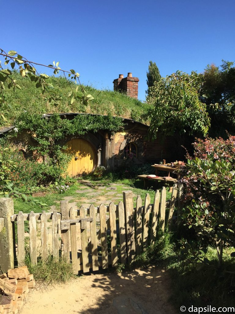 Hobbit Home in the hill with Yellow Door