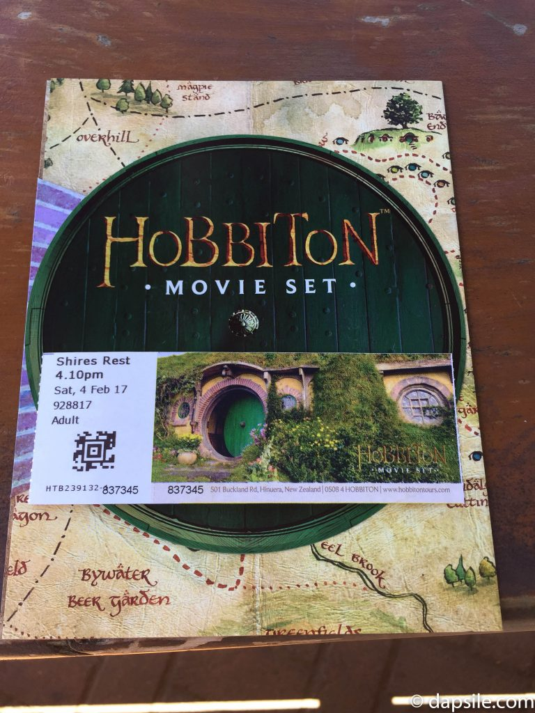 Hobbiton Pamphlet and Ticket