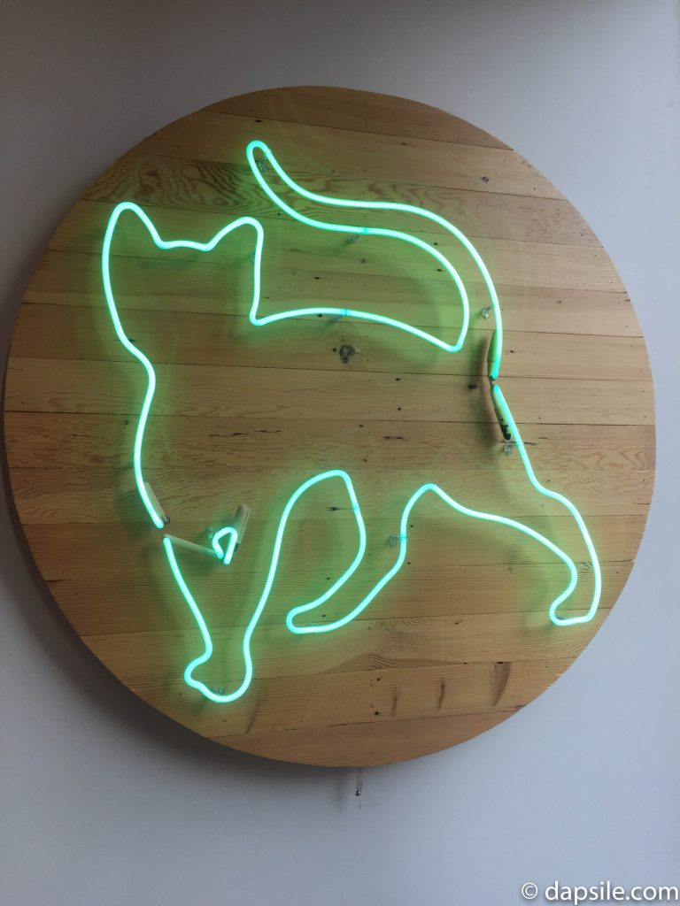 Neon Cat Sign at Catfe