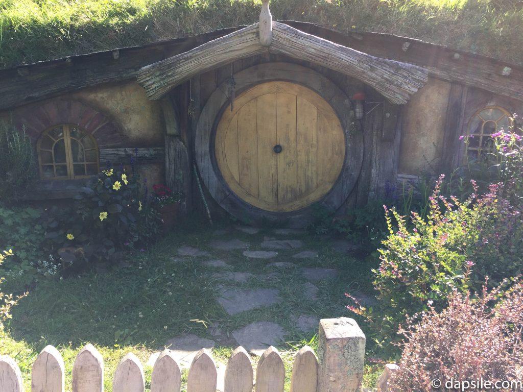 Sun Shining on a Hobbit Home in Hobbiton