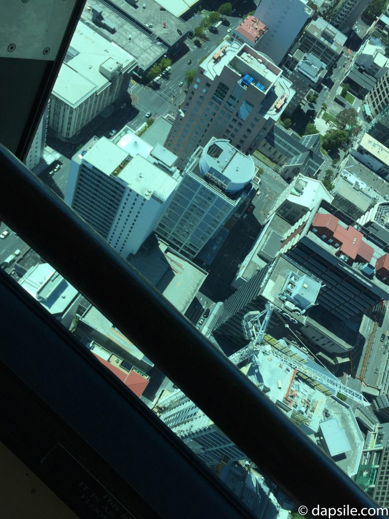 View of the Auckland CBD from the Sky Tower Building