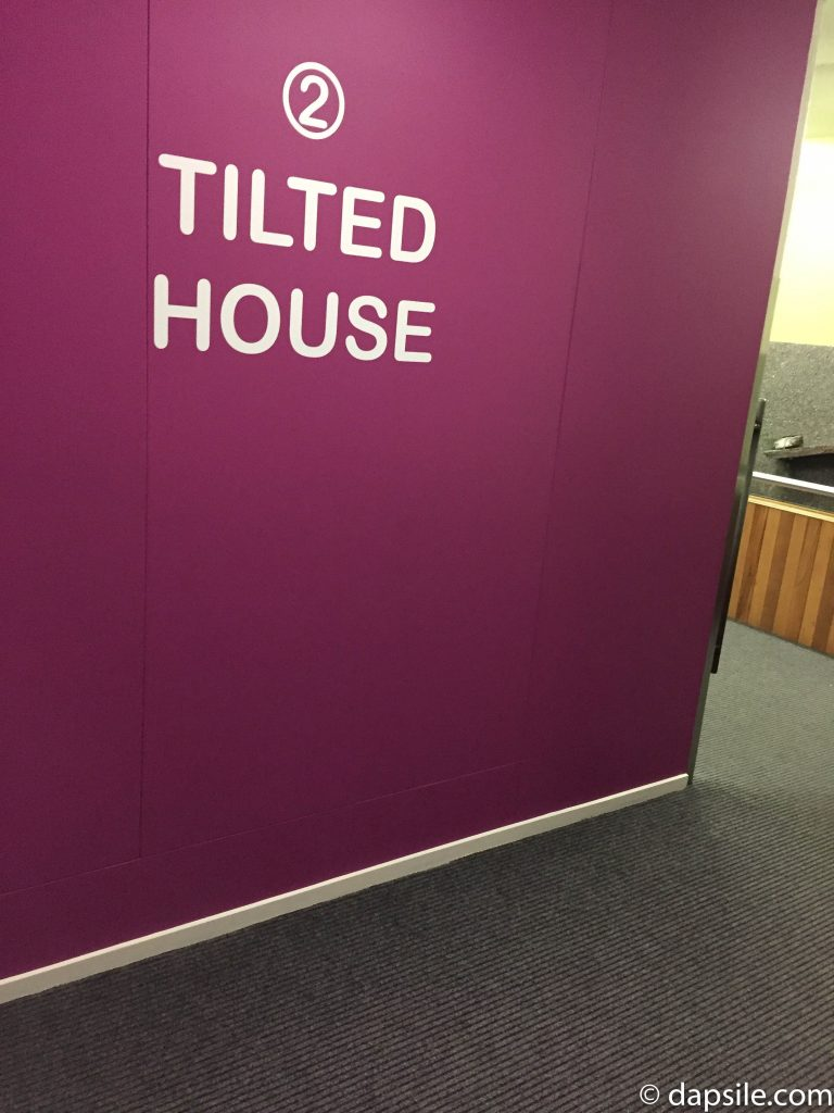 Entrance Wall of the Tilted House Optical Illusion Room