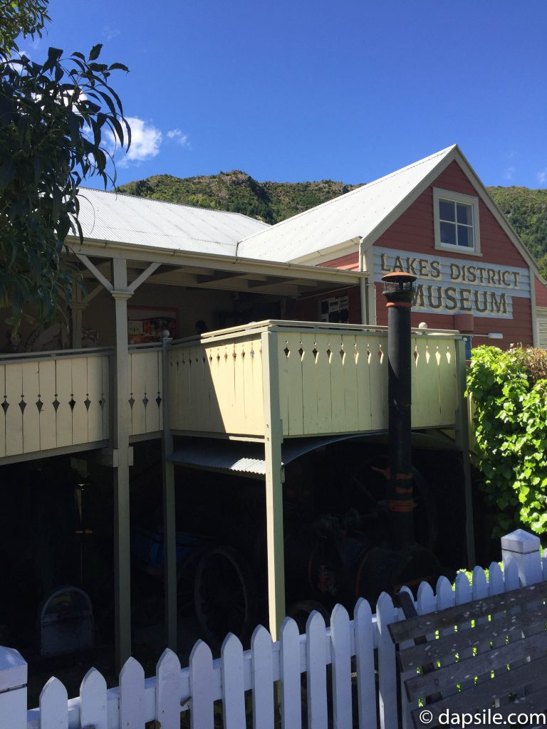 historical building housing the Lakes District Museum in Arrowtown