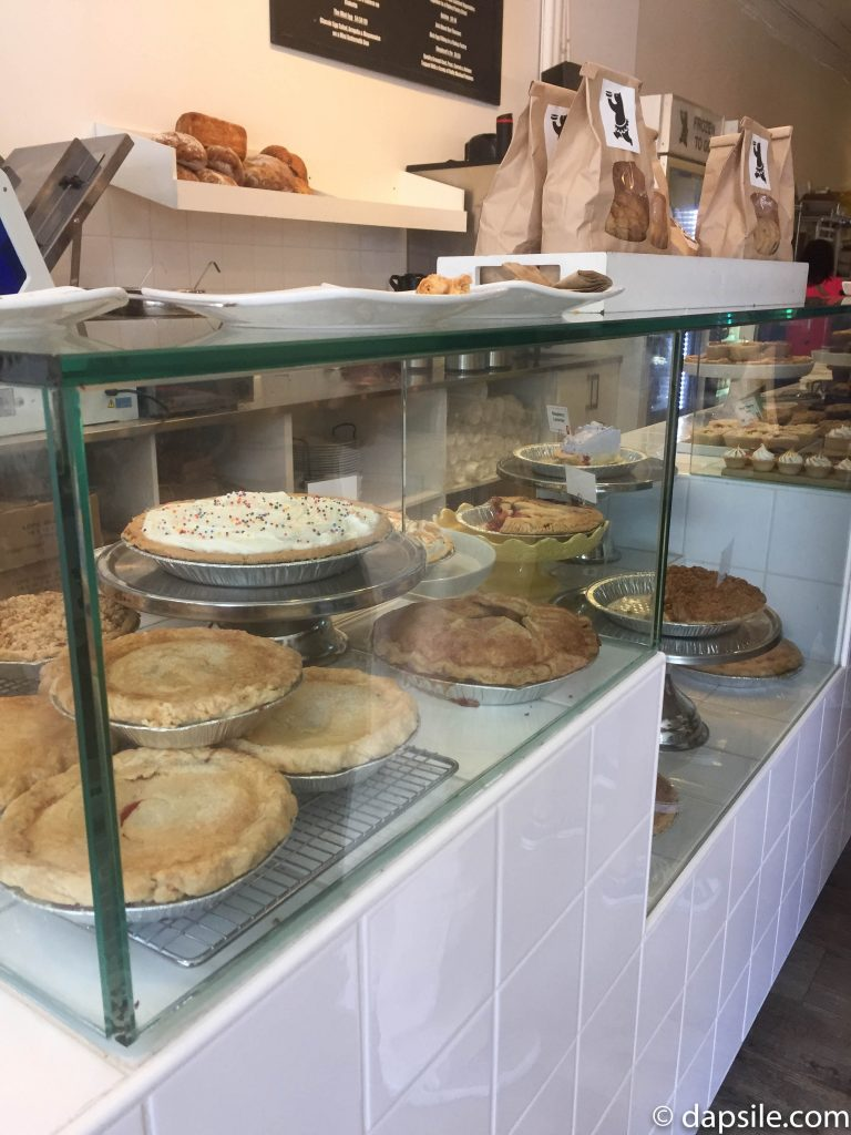 all the pies offered at Tartine Bread and Pie shop