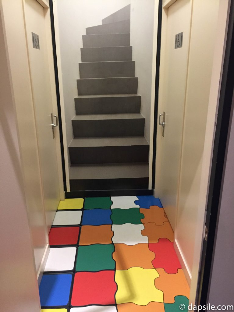 The Puzzling World Bathroom Optical Illusion Hallway