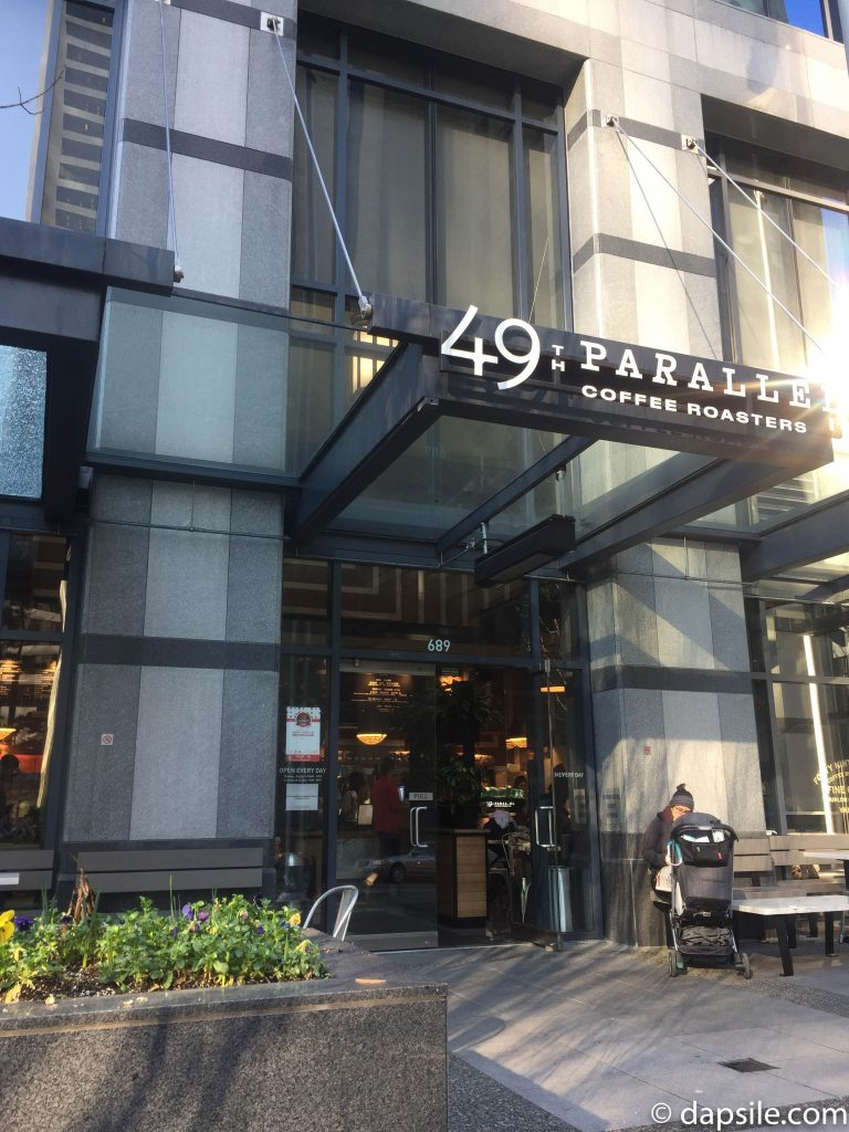 49th Parallel Coffee Roasters on Thurlow Shop Front