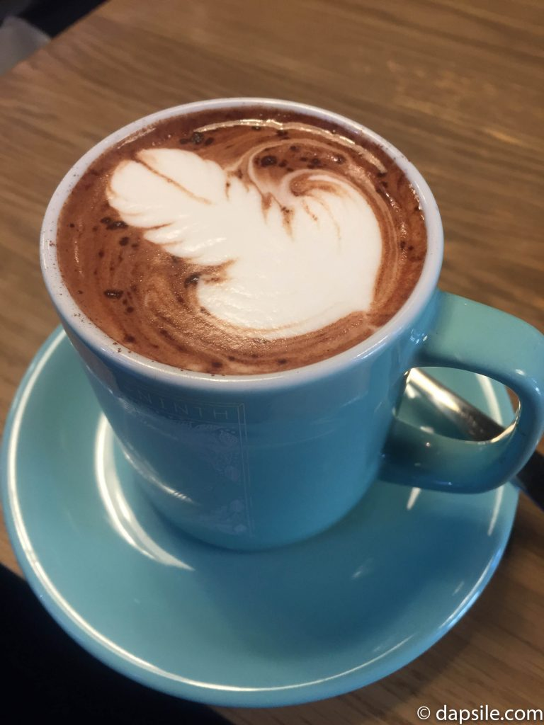 49th Parallel Hot Chocolate with a Phallic Design on top