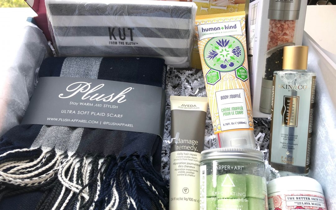 FabFitFun Fall 2019 Box contents