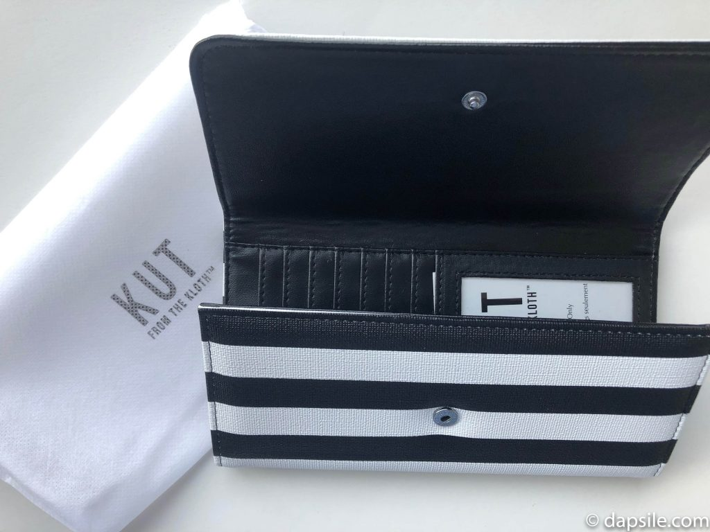 Kut Black and White Striped Wallet from FabFitFun Fall 2019 box