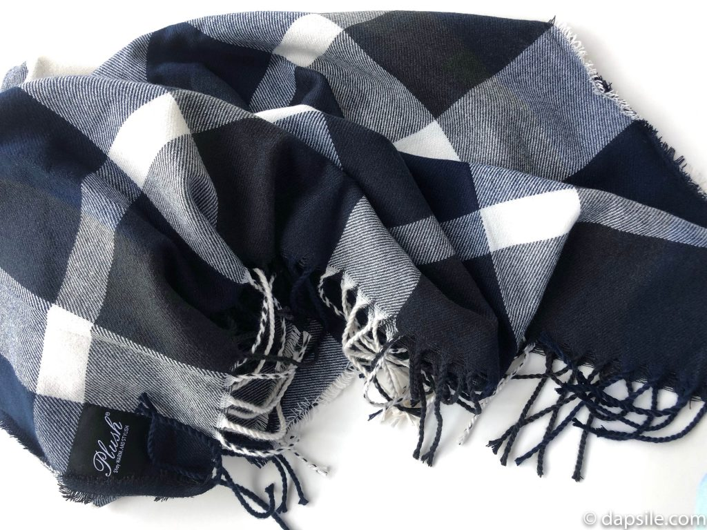 Plush Plaid Scarf Unwrapped